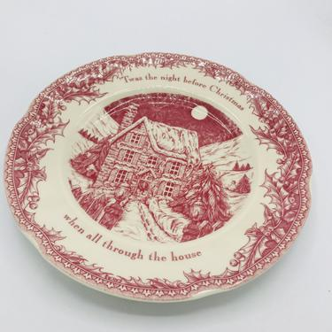 """Johnson Bros Noble Excellence Twas the night before Xmas Bless This House Dinner Plate 10.5"""" nch by JoAnntiques"""