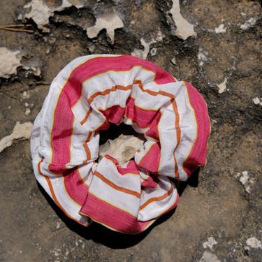 Terra Red Morus Stripes Scrunchie