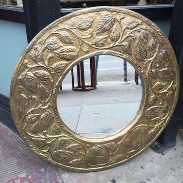 Reflections of a Gladiator | Vintage Medallion Mirror