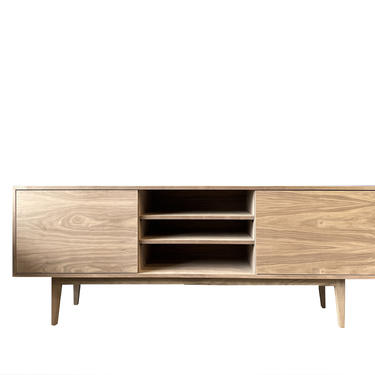 New Hand-Crafted Walnut TV Console / Media Console with custom finishes available by MarthaLeoneDesign