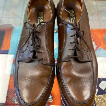 Bostonian Men's Oxfords Vintage 1960s Brown Oxfords Shoes size 10 D by purevintageclothing