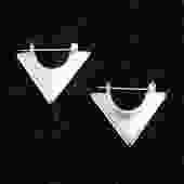 Aves Hoop Earrings Silver