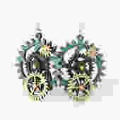 Kinetic Gear Earrings - 5003 E by GreenTreeJewelry