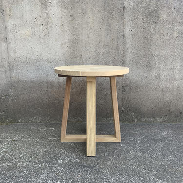 Round Outdoor Teak Table, Side Table by MarcoBogazziStore
