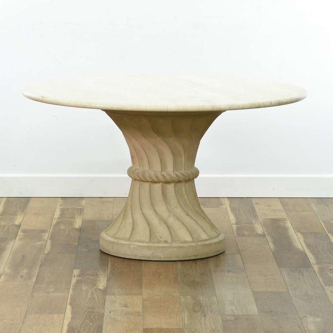 Italian Marble Style Round Dining Table (2 Pcs)