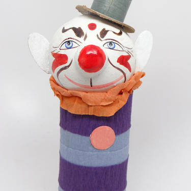 1930's German Clown Candy Container, Top Hat, Antique Circus by exploremag