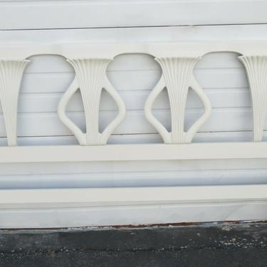French Solid Mahogany Painted King Size Headboard 1764