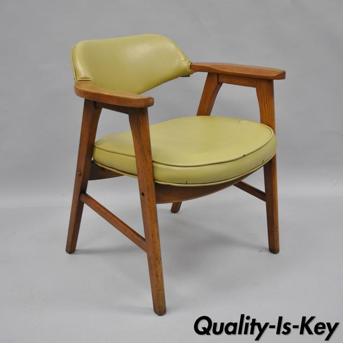 Vintage Mid Century Modern Danish Style Armchair Desk Office Chair Gunlocke C