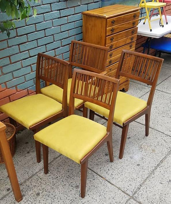 SOLD. SOLD. Drexel Chairs, set of 4 including arm chair