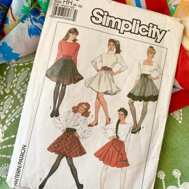 Vintage Sewing Pattern, Circle Skirt, Skater Skirt, High Waist, Complete with Instructions, Simplicity 8743 by GabAboutVintage