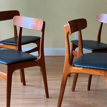 ONE CHAIR Danish Teak and Leather Dining chair by ASISisNOTgoodENOUGH