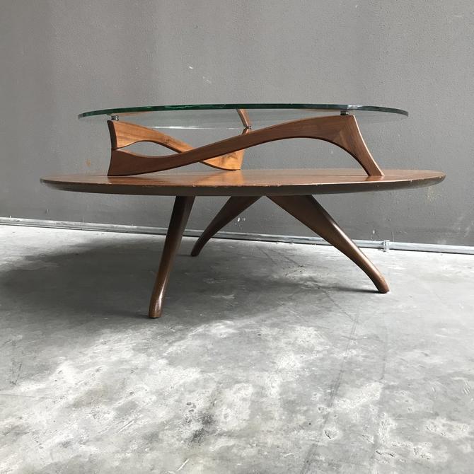 Kagan Coffee Table.Circular Modernist Coffee Table By Vladimir Kagan