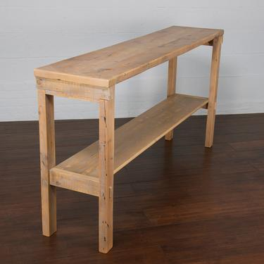 Reclaimed Rustic Pine Wood Farm Cottage Console Table. Sofa Table by StandOutSpaces