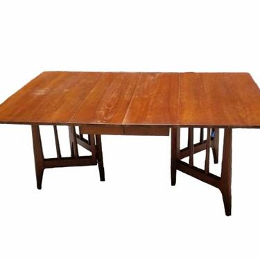 MCM Mahogany Drop Leaf Gate Leg Dining Table drop, Mid Century Kitchen Table by VivaLaVintagedotTX