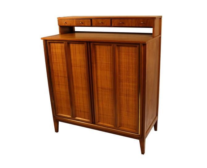 West Michigan Furniture Company Mid Century Modern Bar Cabinet Highboy Dresser by Marykaysfurniture