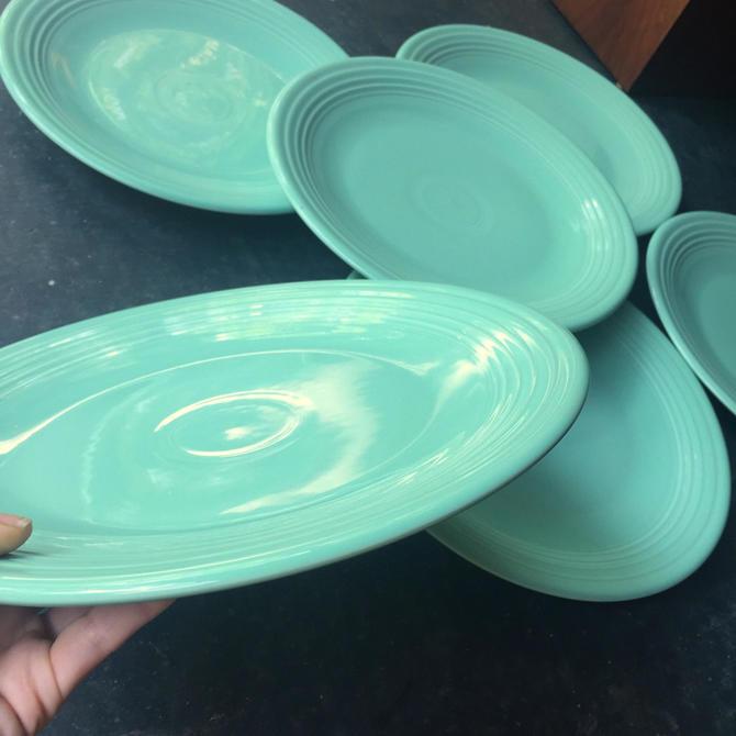 fiestaware Sea Mist Dinner Plates Green Jadite Mint by BrainWashington