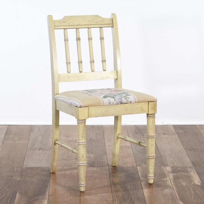 Barker Brothers Chippendale Bamboo Motif Accent Chair
