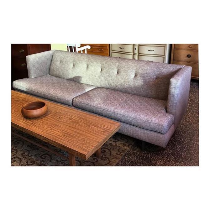 CB2 modern grey sofa //