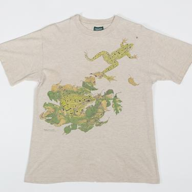 90s Frog T Shirt - Men's Small, Women's Medium   Vintage Unisex Graphic Animal Tee by FlyingAppleVintage