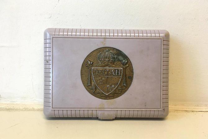 Vintage Deltah Jewelry Box Pearls Pale Pink Violet Cream