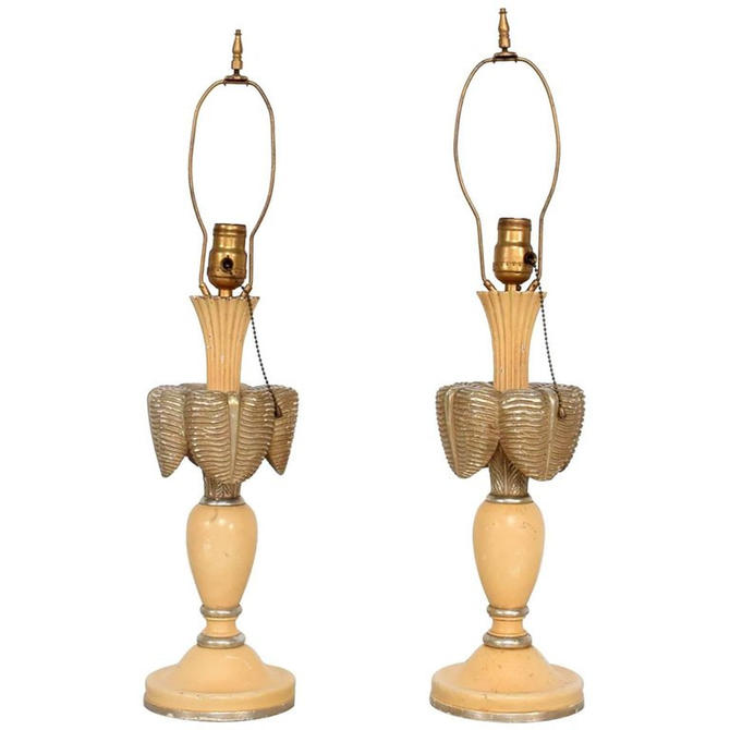 Neoclassical Sculptural Table Lamps, circa 1940s by AMBIANIC