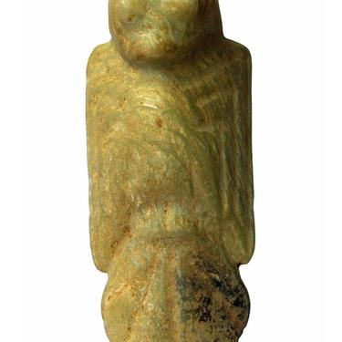 Natural Yellow & Green Mix Color Stone Carving Ancient Chinese Mythology Tribe Bird Statue n319E by GoldenLotusAntiques