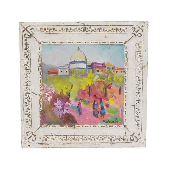 Handmade Field of Soft Colors Mladen Novak Tin Panel Painting