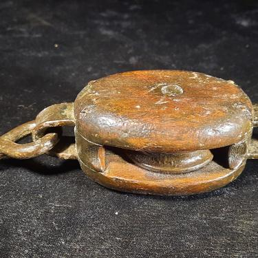 Antique Block, Single Sheave with hook