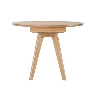 Expandable Dining Table, Round Extension Table with Leaf in Solid Wood Oak, Starts as a Small Round Table, Opens to Oval Table, SHIPS FREE by NathanHunterDesign