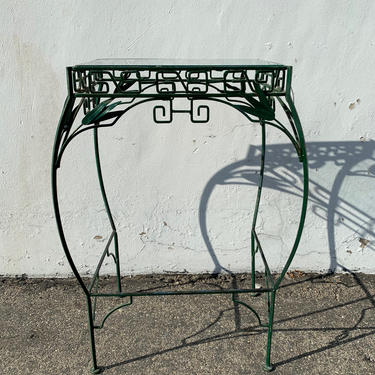 Antique Metal Rack Table Primitive Rustic Kitchen Storage Vintage Shelving Unit Salvage Farmhouse Cottage Country French Entry Way Display by DejaVuDecors