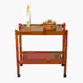 Compact Teak Bar/Serving Cart