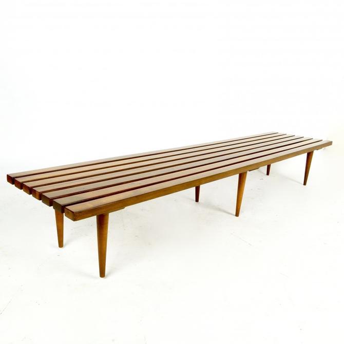 Walnut 6 Leg Slat Bench / Coffee Table