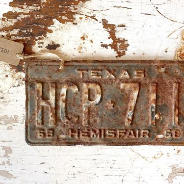 1960s Texas Rusty License Plates  - Vintage Man Cave Wall Art by CollectedATX