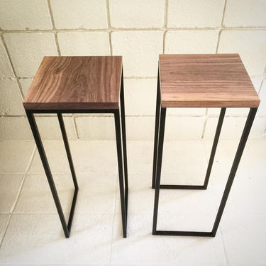 Modern Side Tables-walnut table-modern plant stand- mid century modern furniture-sleek accent table by LucasAhlstrand