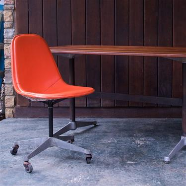 Late 1950s Charles Eames PKC Wire Rolling Task Chair Herman Miller Vintage Mid-Century Modern McM Casters by BrainWashington