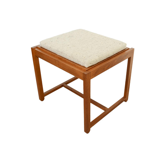 Teak Stool Flip Top Table Ottoman Erik Buch Danish Modern Domis Danica OD Mobler by HearthsideHome