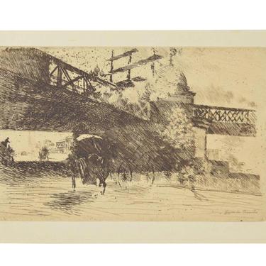 GIUSEPPE DE NITTIS Impressionist Etching – Vue prise à Londres, 1884 by PrairielandArt
