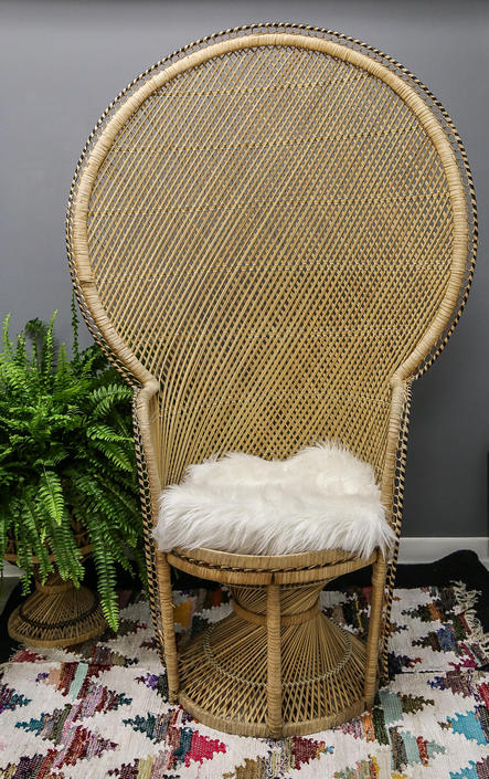 Awesome Vintage Peacock Chair Wicker High Back Fan Rattan Mid Gmtry Best Dining Table And Chair Ideas Images Gmtryco