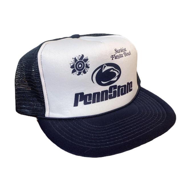 Vintage 80s Penn State Trucker Hat 1987 Sunkist Fiesta Bowl Snapback Hat by OverTheYearsFinds