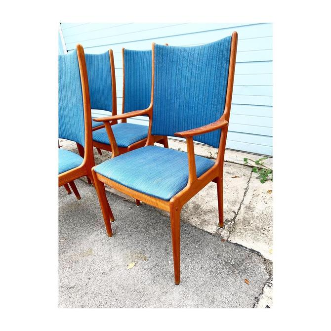 Set of 8 Danish Modern Teak Dining Chairs by FlipAtik