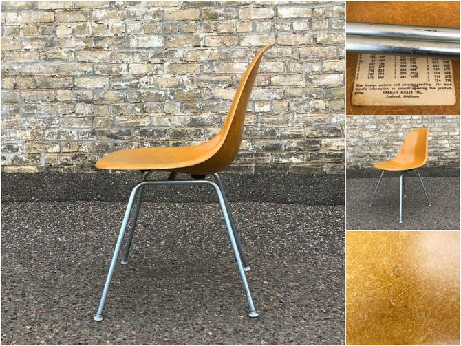 Eames Molded Fiberglass Chair – Ochre Dark