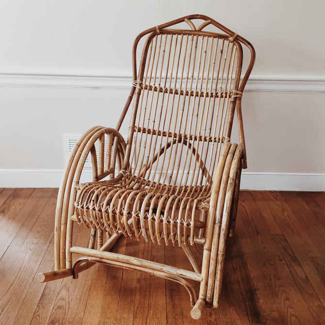 Pleasant Rattan Rocking Chair Franko Albini Style Bamboo Rocking Gmtry Best Dining Table And Chair Ideas Images Gmtryco