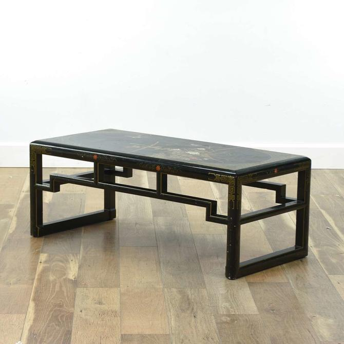 Vintage Asian Style Black Coffee Table