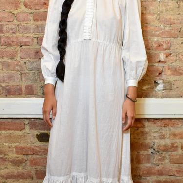 1930's White Cotton Dress