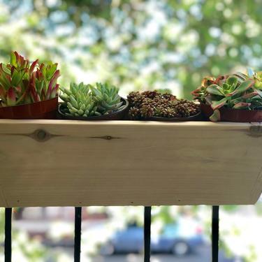 Angled Balcony Rail Planter Box by FifteenDegree