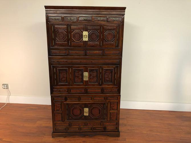 Vintage Korean 4 Piece Stacking Tansu by Vintagefurnitureetc