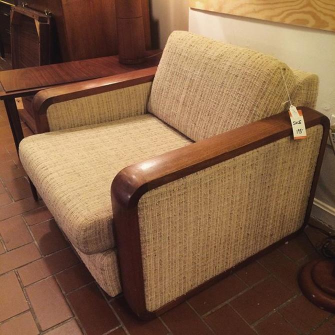 Midcentury upholstered club chair