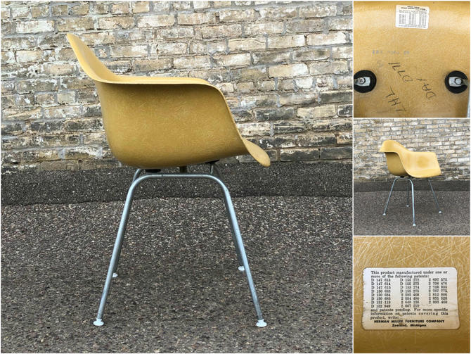 Eames Dax Fiberglass Chair – Ochre Light