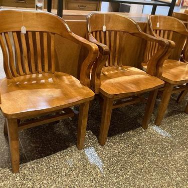 """Vintage courthouse chair(s) 24"""" x 19"""" x 33"""" Seat height 18"""" 5 available"""