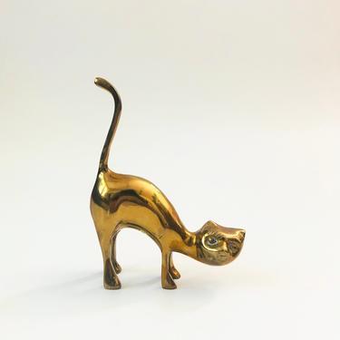 Vintage Brass Cat / Ring Holder by SergeantSailor